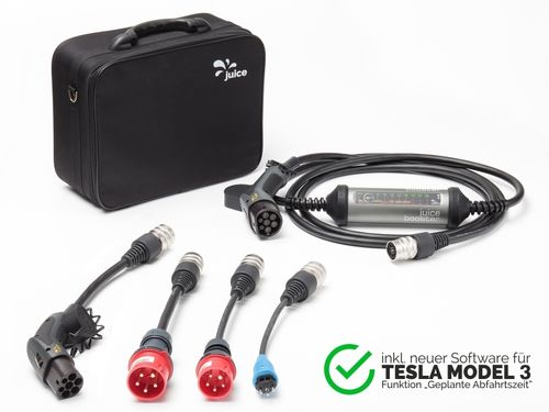 Juice - Booster 2 - Tesla Model 3 Set - Mobile Ladestation 22kW dreiphasig Typ2